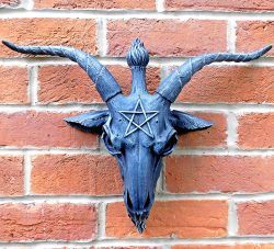 placa pared baphomet gigante