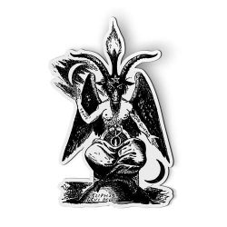 sticker ventana car baphomet